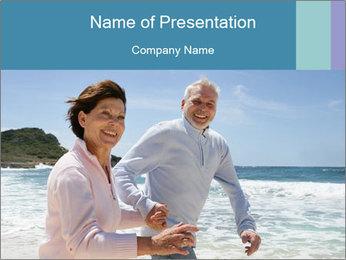 Senior couple running PowerPoint Template - Slide 1