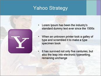 Senior couple running PowerPoint Template - Slide 11