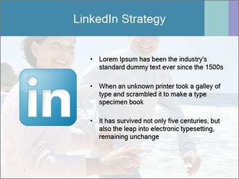 Senior couple running PowerPoint Template - Slide 12