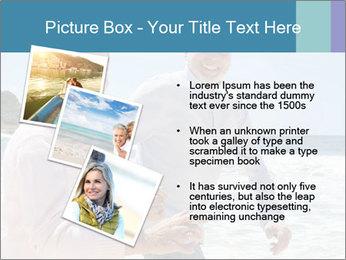 Senior couple running PowerPoint Template - Slide 17