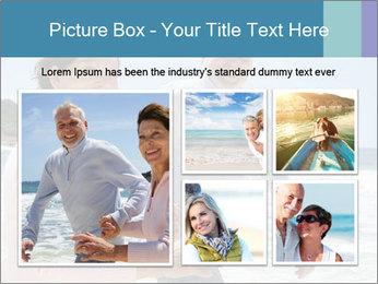 Senior couple running PowerPoint Template - Slide 19