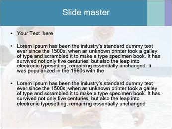 Senior couple running PowerPoint Template - Slide 2