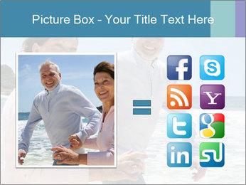 Senior couple running PowerPoint Template - Slide 21