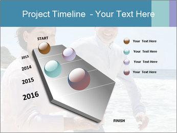 Senior couple running PowerPoint Template - Slide 26