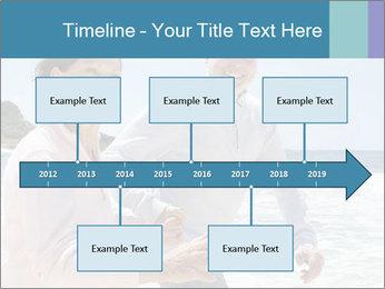 Senior couple running PowerPoint Template - Slide 28