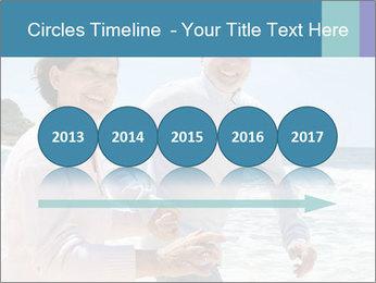 Senior couple running PowerPoint Template - Slide 29