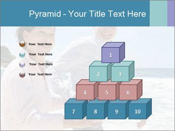 Senior couple running PowerPoint Template - Slide 31