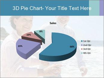 Senior couple running PowerPoint Template - Slide 35