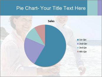 Senior couple running PowerPoint Template - Slide 36