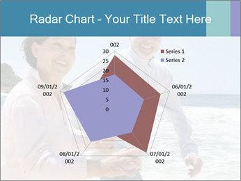 Senior couple running PowerPoint Template - Slide 51