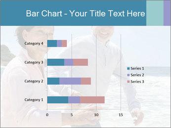 Senior couple running PowerPoint Template - Slide 52