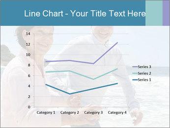 Senior couple running PowerPoint Template - Slide 54