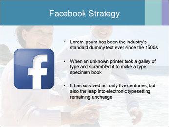 Senior couple running PowerPoint Template - Slide 6