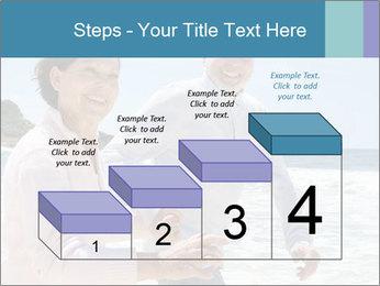 Senior couple running PowerPoint Template - Slide 64