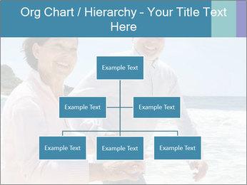 Senior couple running PowerPoint Template - Slide 66
