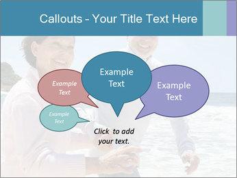 Senior couple running PowerPoint Template - Slide 73