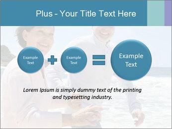 Senior couple running PowerPoint Template - Slide 75