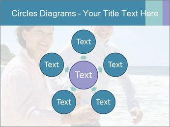 Senior couple running PowerPoint Template - Slide 78