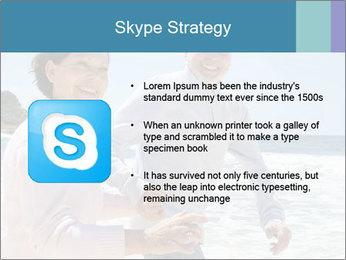 Senior couple running PowerPoint Template - Slide 8