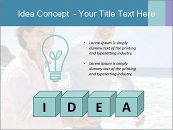Senior couple running PowerPoint Template - Slide 80