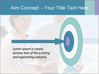 Senior couple running PowerPoint Template - Slide 83