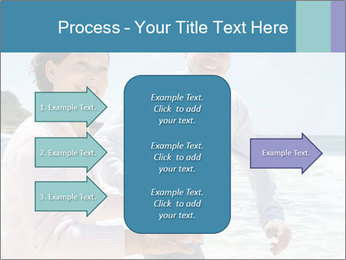 Senior couple running PowerPoint Template - Slide 85
