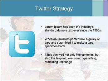 Senior couple running PowerPoint Template - Slide 9