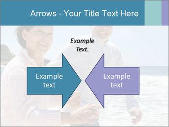 Senior couple running PowerPoint Template - Slide 90