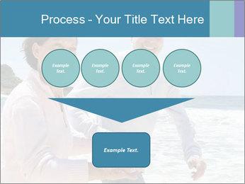 Senior couple running PowerPoint Template - Slide 93