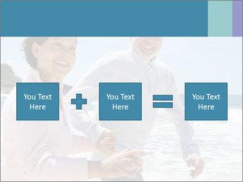 Senior couple running PowerPoint Template - Slide 95