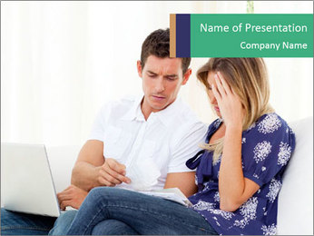 Distressed couple PowerPoint Template