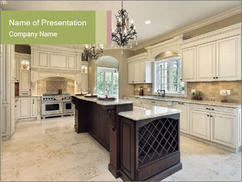 Kitchen in new construction PowerPoint Template