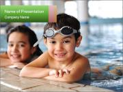 Swimming kid PowerPoint Templates