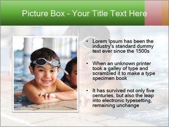 Swimming kid PowerPoint Template - Slide 13