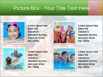 Swimming kid PowerPoint Template - Slide 14