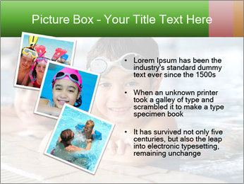 Swimming kid PowerPoint Templates - Slide 17