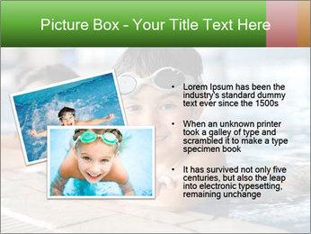 Swimming kid PowerPoint Template - Slide 20