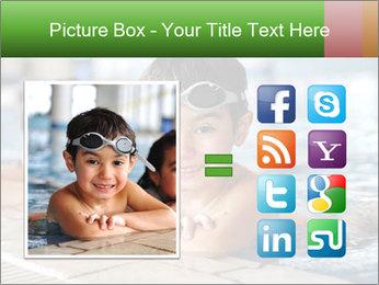 Swimming kid PowerPoint Template - Slide 21