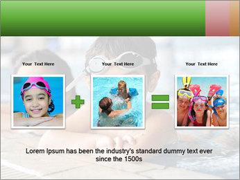 Swimming kid PowerPoint Template - Slide 22