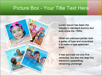 Swimming kid PowerPoint Templates - Slide 23