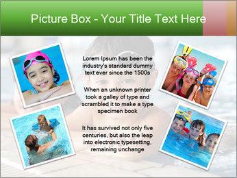 Swimming kid PowerPoint Template - Slide 24
