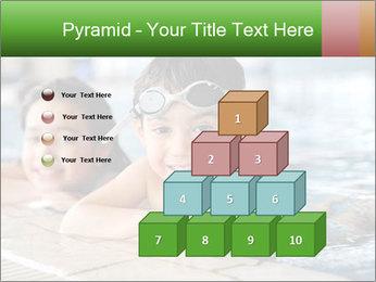 Swimming kid PowerPoint Template - Slide 31