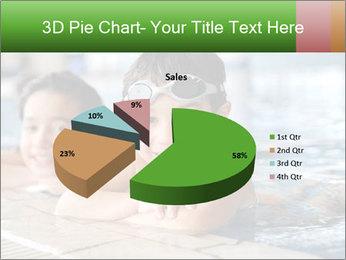 Swimming kid PowerPoint Template - Slide 35