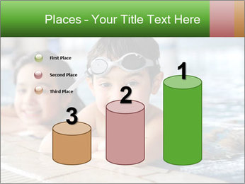 Swimming kid PowerPoint Templates - Slide 65