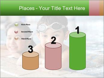 Swimming kid PowerPoint Template - Slide 65