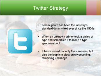 Swimming kid PowerPoint Template - Slide 9