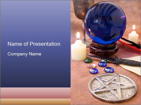 Witchcraft objects PowerPoint Template