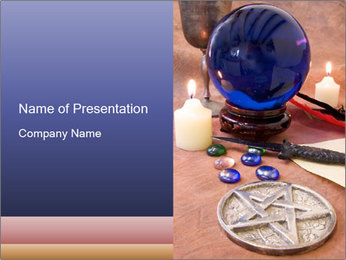 Witchcraft objects PowerPoint Template - Slide 1