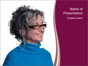 Woman smiling PowerPoint Template - Slide 1