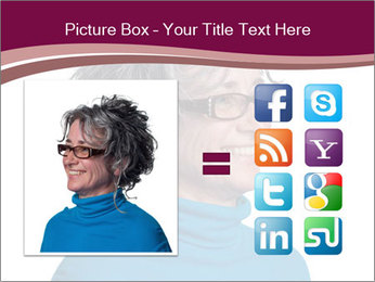 Woman smiling PowerPoint Template - Slide 21